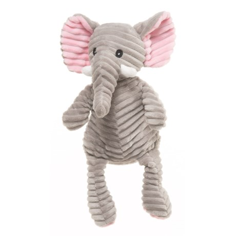 "KellyPet Corduroy Elephant Squeaker Dog Toy - 12"" in Multi"