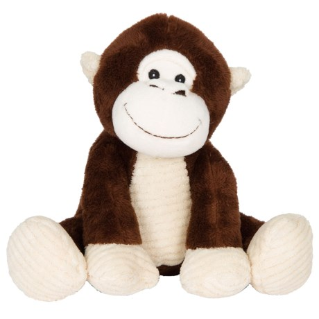 KellyPet Poseable Monkey Squeaker Dog Toy in Brown