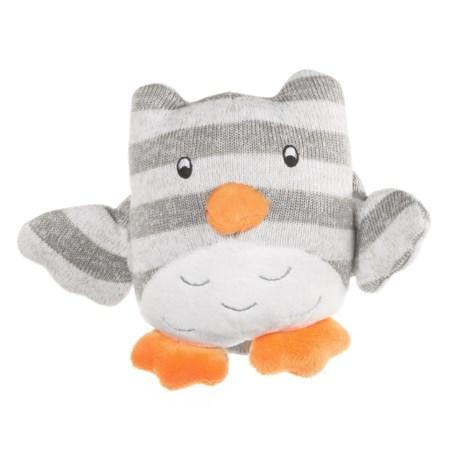 "KellyPuppy Grey Knit Owl Squeaker Dog Toy - 7.5"" in Grey"