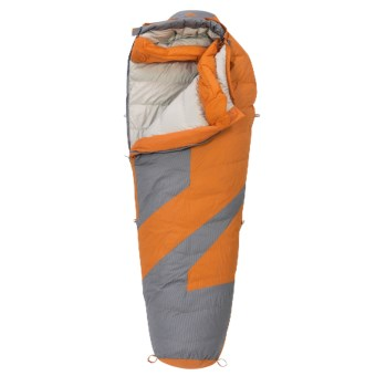 Kelty 20°F Light Year Down Sleeping Bag - 600 Fill Power, Long Mummy in Russet Orange/Grey