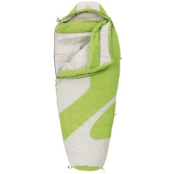 Kelty 20°F Light Year XP Sleeping Bag - Mummy, Synthetic (For Women) in Dark Citron/Grey