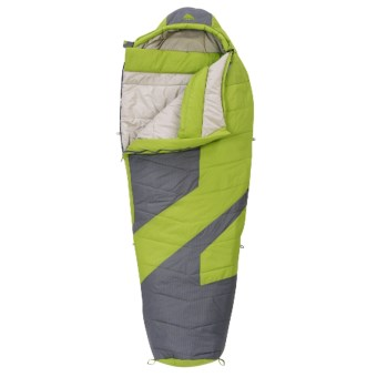 Kelty 20°F Light Year XP Sleeping Bag - Mummy, Synthetic in Dark Citron/Grey