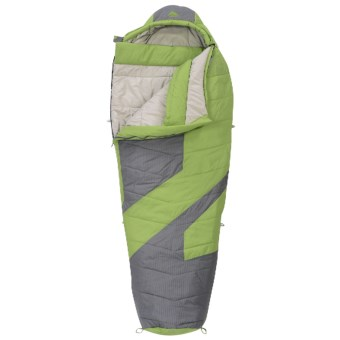 Kelty 20°F Light Year XP Sleeping Bag - Synthetic, Long Mummy in Dark Citron/Grey