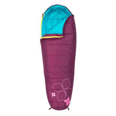 Kelty 20°F Little Flower Sleeping Bag - Short, Mummy (For Kids) in Purple - Closeouts