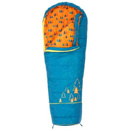 Kelty 30°F Big Dipper Sleeping Bag - Short, Mummy (For Kids) in Blue - Closeouts