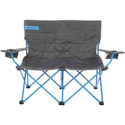 Kelty Folding Camping Loveseat in Smoke/Paradise Blue