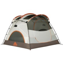 Kelty Parthenon 4 Tent with Footprint - 4-Person, 3-Season in White/Brown - Closeouts