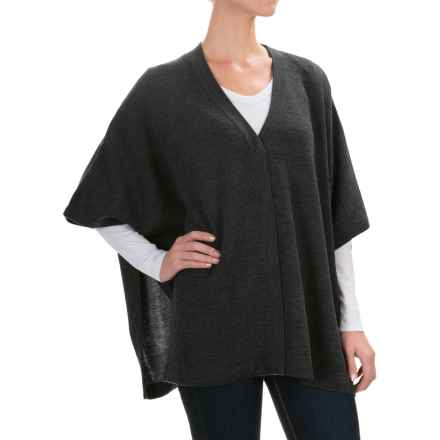 Kenar Double-Knit Poncho - Merino Wool (For Women) in Charcoal Heather - Closeouts