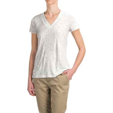 Kenar Heathered Linen Shirt - V-Neck, Short Sleeve (For Women) in Pewter Heather - Closeouts