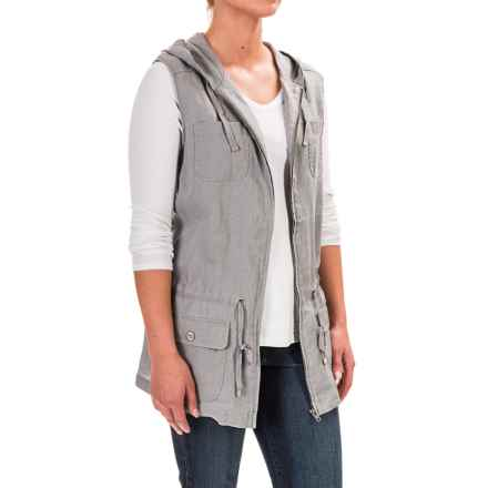 Kenar Hooded Anorak Vest (For Women) in Light Grey - Overstock