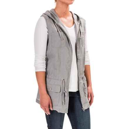 Kenar Hooded Anorak Vest (For Women) in Light Grey - Overstock