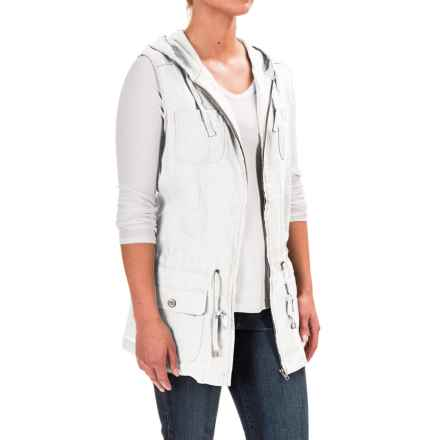 Kenar Hooded Anorak Vest (For Women) in White Sails - Overstock