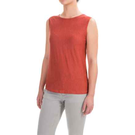 Kenar Linen Jersey Tank Top - Crew Neck (For Women) in Clay Pot - Closeouts
