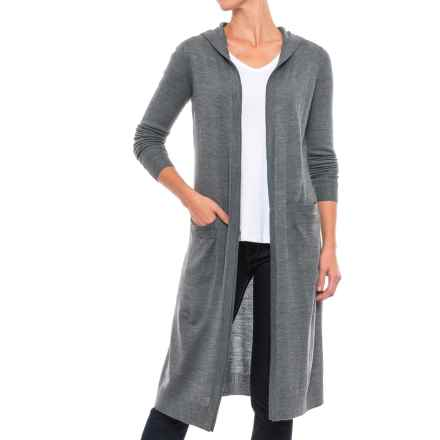 Kenar Merino Wool Blend Cardigan Sweater - Hooded (For Women) in Illusion Grey - Closeouts