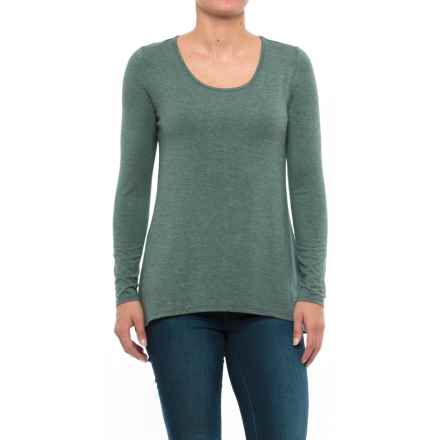Kenar Scoop Neck Shirt - Stretch Modal, Long Sleeve (For Women) in Pine Heather - Closeouts