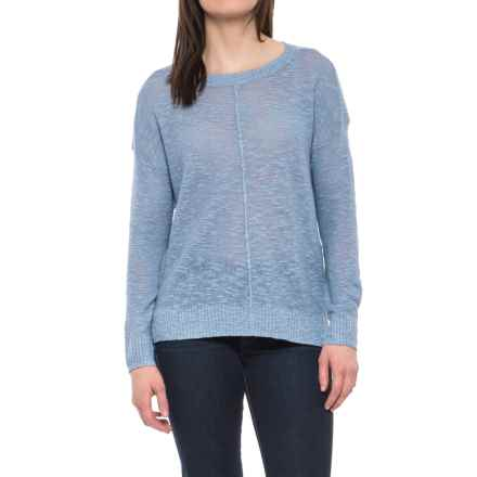 Kenar Textured Stitch Sweater - Linen-Cotton (For Women) in Sunbleached Denim Solid - Closeouts