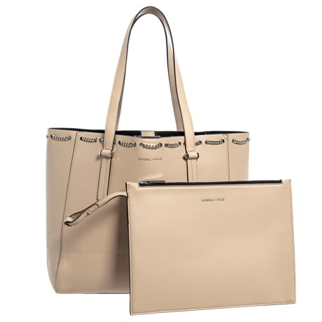 Kendall + Kylie Izzy Chain Tote Bag (For Women) in Cream/Tan