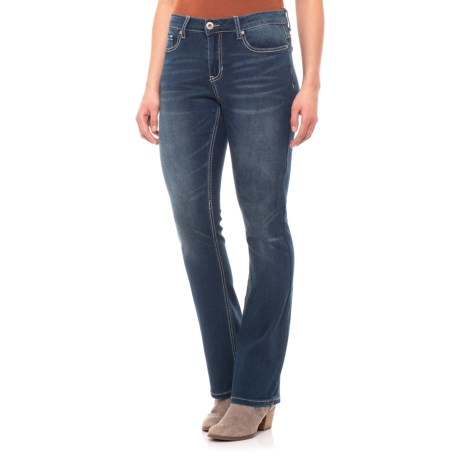 Image of Kendall Curvy Micro Jeans with Back Pocket Detail - Bootcut (For Women)