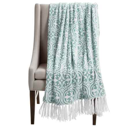"Kendrick Chenille Fleece Throw Blanket - 50x70"" in Mineral - Closeouts"