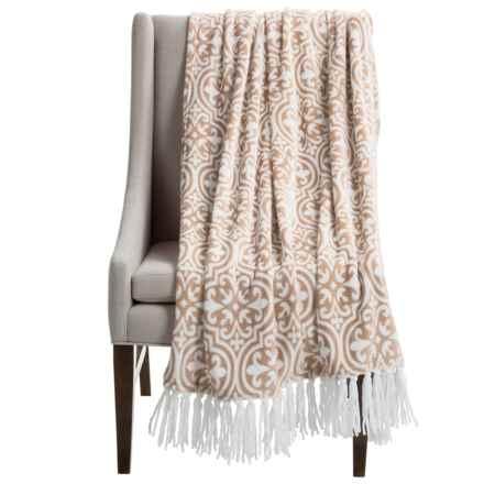 "Kendrick Chenille Fleece Throw Blanket - 50x70"" in Sand - Closeouts"
