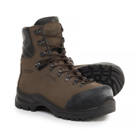 Kenetrek Boots Made in Italy Hardline ST 400 Work Boots - Waterproof, Insulated, Composite Safety Toe (For Men) in Brown