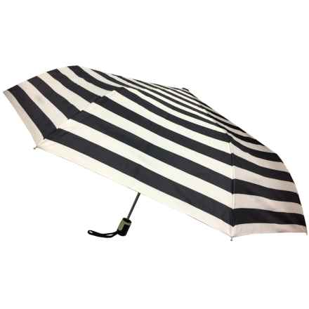 Kenlo Auto-Open Mini Umbrella in Stripes - Closeouts
