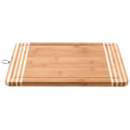 """Kennedy Home Shanghai Bamboo Cutting Board - 14x10"""" in See Photo - Closeouts"""