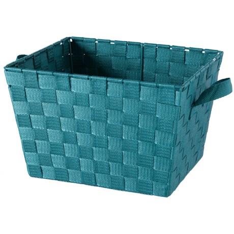 """Kennedy Home Small Woven Strap Tote - 10x12x8"""" in Sapphire"""