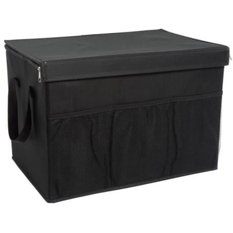 Kennedy Home Zip Lid Trunk Organizer in Black