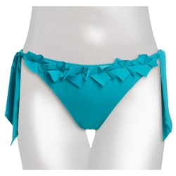Kenneth Cole Bed of Roses Tie Side Hipster Swimsuit Bottoms (For Women) in Ice Blue