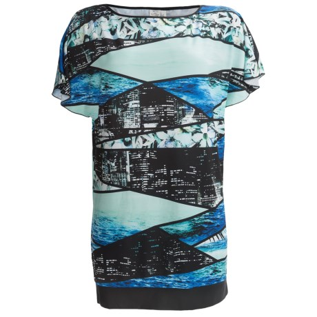 Kenneth Cole City Soul Cover-Up Dress - Short Sleeve (For Women) in Teal