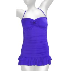 Kenneth Cole Reaction Bandeau Swimdress Swimsuit (For Women) in Marine Blue