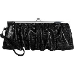 Kenneth Cole Reaction Croco Frame Wristlet Clutch (For Women) in Coral