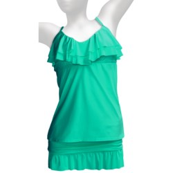 Kenneth Cole Reaction Ruffle-Licious Tankini (For Women) in Seafoam