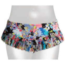 Kenneth Cole Reaction Spring It On Skirted Hipster Bikini Bottoms (For Women) in Multi