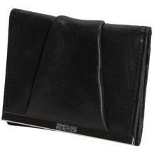 Kenneth Cole Reaction Tri-Fold Wallet - Leather (For Women) in Black - Closeouts