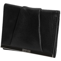 Kenneth Cole Reaction Tri-Fold Wallet - Leather (For Women) in Black
