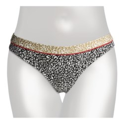 Kenneth Cole Reaction Wild Cats Hipster Bikini Bottoms (For Women) in Black