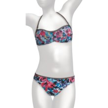 Kenneth Cole Roses are Red Bikini Swimsuit - 2-Piece, Bandeau (For Women) in Floral Multi - Closeouts