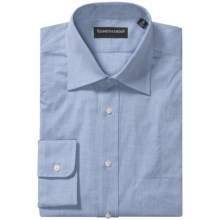 Kenneth Gordon 2-Ply Pinpoint Dress Shirt - Long Sleeve (For Men) in Blue - Closeouts
