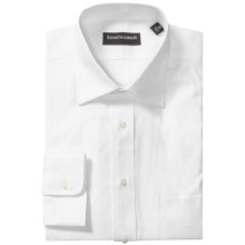 Kenneth Gordon 2-Ply Pinpoint Dress Shirt - Long Sleeve (For Men) in White - Closeouts