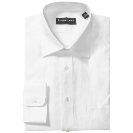 Kenneth Gordon 2-Ply Pinpoint Dress Shirt - Long Sleeve (For Men) in White