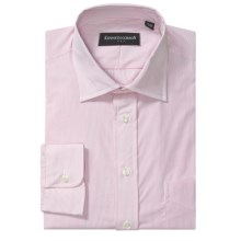 Kenneth Gordon Banker Stripe Dress Shirt - Cotton Broadcloth, Long Sleeve (For Men) in Pink - Closeouts