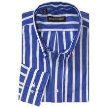 Kenneth Gordon Bengal Stripe Sport Shirt - Button Down, Long Sleeve (For Men) in Blue/White Stripe - Closeouts