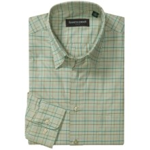 Kenneth Gordon Check Sport Shirt - Hidden Button-Down Collar, Long Sleeve (For Men) in Light Green/Pink/Multi Windowpane - Closeouts