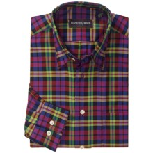 Kenneth Gordon Check Sport Shirt - Hidden Button-Down Collar, Long Sleeve (For Men) in Lime/Yellow/Black/Multi - Closeouts