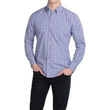 Kenneth Gordon Cotton Check Sport Shirt - Long Sleeve (For Men) in Fuschia Multi - Closeouts