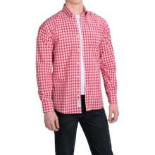 Kenneth Gordon Cotton Check Sport Shirt - Long Sleeve (For Men) in Red/Yellow - Closeouts