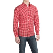 Kenneth Gordon Cotton Check Sport Shirt - Long Sleeve (For Men) in Red - Closeouts