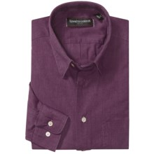 Kenneth Gordon Cotton-Linen Sport Shirt - Long Sleeve (For Men) in Purple - Closeouts